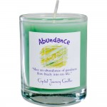 Abundance Soy Glass Votive Spell Candle