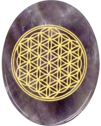 Amethyst Flower of Life Worry Stone All Wicca Store Magickal Supplies Wiccan Supplies, Wicca Books, Pagan Jewelry, Altar Statues