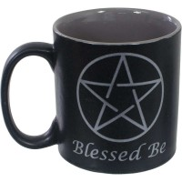 Blessed Be Pentacle Ceramic Mug