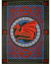 Red Celtic Dragon Tapestry All Wicca Store Magickal Supplies Wiccan Supplies, Wicca Books, Pagan Jewelry, Altar Statues