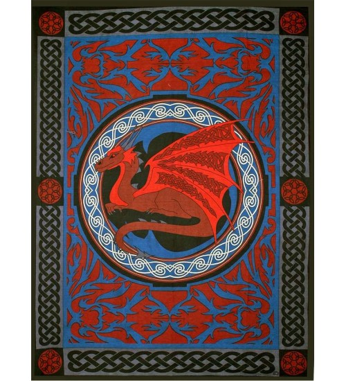 Red Celtic Dragon Tapestry at All Wicca Store Magickal Supplies, Wiccan Supplies, Wicca Books, Pagan Jewelry, Altar Statues