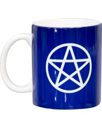 Pentacle Blue Ceramic Mug All Wicca Store Magickal Supplies Wiccan Supplies, Wicca Books, Pagan Jewelry, Altar Statues