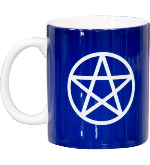Pentacle Blue Ceramic Mug at All Wicca Store Magickal Supplies, Wiccan Supplies, Wicca Books, Pagan Jewelry, Altar Statues