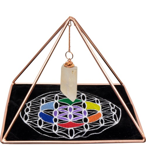 Copper Pyramid Energizer Set for Charging and Power at All Wicca Store Magickal Supplies, Wiccan Supplies, Wicca Books, Pagan Jewelry, Altar Statues