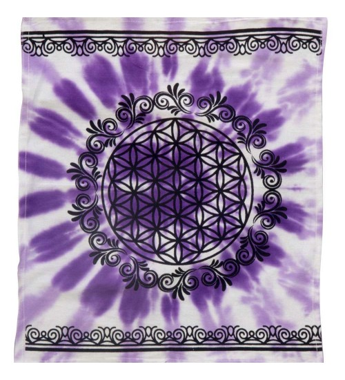 Flower of Life Purple Altar Cloth at All Wicca Magickal Supplies, Wiccan Supplies, Wicca Books, Pagan Jewelry, Altar Statues