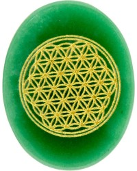 Green Aventurine Flower of Life Worry Stone All Wicca Magickal Supplies Wiccan Supplies, Wicca Books, Pagan Jewelry, Altar Statues