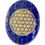 Lapis Lazuli Flower of Life Worry Stone