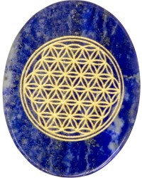 Lapis Lazuli Flower of Life Worry Stone All Wicca Store Magickal Supplies Wiccan Supplies, Wicca Books, Pagan Jewelry, Altar Statues