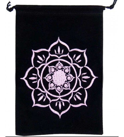 Lotus Embroidered Velvet Pouch at All Wicca Store Magickal Supplies, Wiccan Supplies, Wicca Books, Pagan Jewelry, Altar Statues