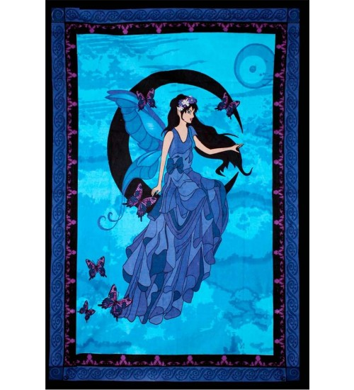 Moon Fairy Tapestry at All Wicca Store Magickal Supplies, Wiccan Supplies, Wicca Books, Pagan Jewelry, Altar Statues