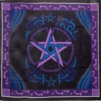 Pentacle Purple Altar Cloth