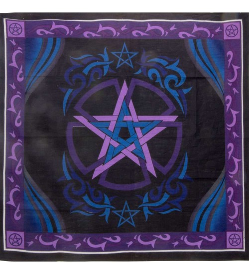 Pentacle Purple Altar Cloth at All Wicca Store Magickal Supplies, Wiccan Supplies, Wicca Books, Pagan Jewelry, Altar Statues