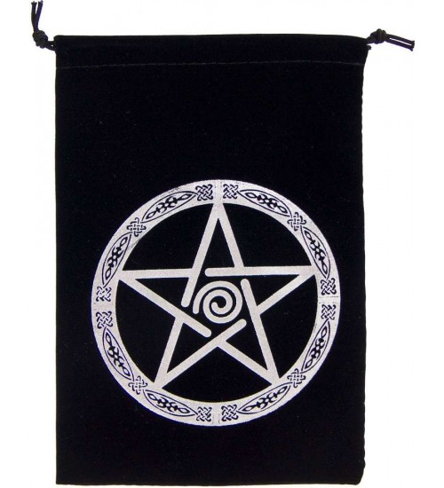 Pentacle Embroidered Velvet Pouch at All Wicca Store Magickal Supplies, Wiccan Supplies, Wicca Books, Pagan Jewelry, Altar Statues