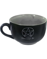 Blessed Be Pentacle Cappuccino Cup All Wicca Store Magickal Supplies Wiccan Supplies, Wicca Books, Pagan Jewelry, Altar Statues