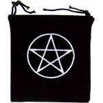Pentacle Embroidered Small Velvet Pouch