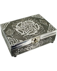 Pentacle Embossed Metal Box All Wicca Store Magickal Supplies Wiccan Supplies, Wicca Books, Pagan Jewelry, Altar Statues