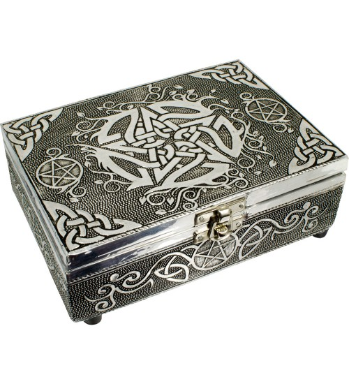 Pentacle Embossed Metal Box at All Wicca Store Magickal Supplies, Wiccan Supplies, Wicca Books, Pagan Jewelry, Altar Statues
