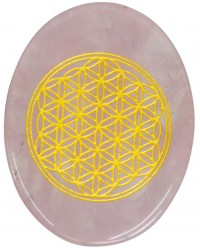Rose Quartz Flower of Life Worry Stone All Wicca Store Magickal Supplies Wiccan Supplies, Wicca Books, Pagan Jewelry, Altar Statues