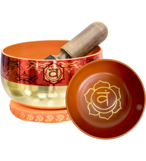 Sacral Chakra Small Singing Bowl Set at All Wicca Store Magickal Supplies, Wiccan Supplies, Wicca Books, Pagan Jewelry, Altar Statues