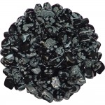 Snow Flake Obsidian Tumbled Stones - 1 Pound Pack