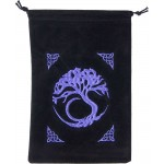 Tree of Life Embroidered Velvet Pouch