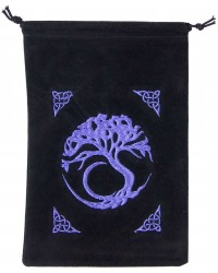 Tree of Life Embroidered Velvet Pouch All Wicca Store Magickal Supplies Wiccan Supplies, Wicca Books, Pagan Jewelry, Altar Statues