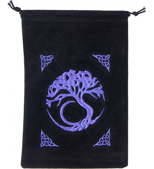 Tree of Life Embroidered Velvet Pouch at All Wicca Store Magickal Supplies, Wiccan Supplies, Wicca Books, Pagan Jewelry, Altar Statues