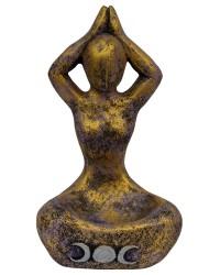 Yoga Moon Goddess Volcanic Stone Statue