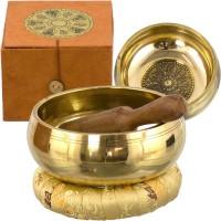 Tibetan Wheel of Life Singing Bowl Gift Set