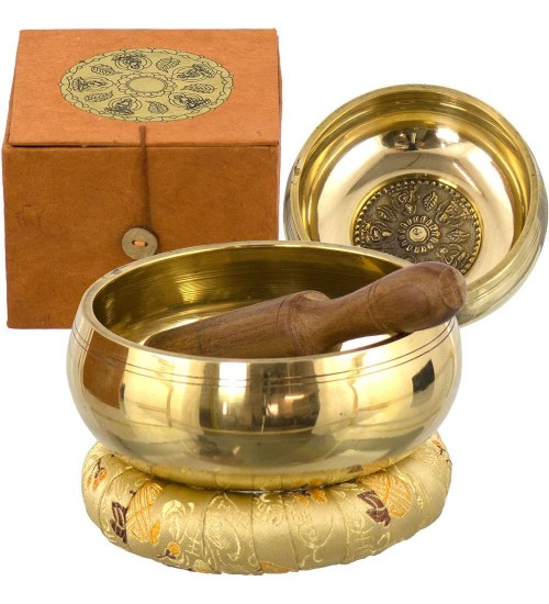 Tibetan Wheel of Life Singing Bowl Gift Set at All Wicca Store Magickal Supplies, Wiccan Supplies, Wicca Books, Pagan Jewelry, Altar Statues