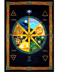 Wheel of the Year Calendar Tapestry All Wicca Magical Supplies Wiccan Supplies, Wicca Books, Pagan Jewelry, Altar Statues