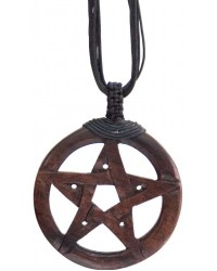 Wood Pentacle Large Pendant All Wicca Store Magickal Supplies Wiccan Supplies, Wicca Books, Pagan Jewelry, Altar Statues