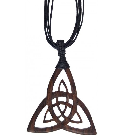 Wood Triquetra Large Pendant