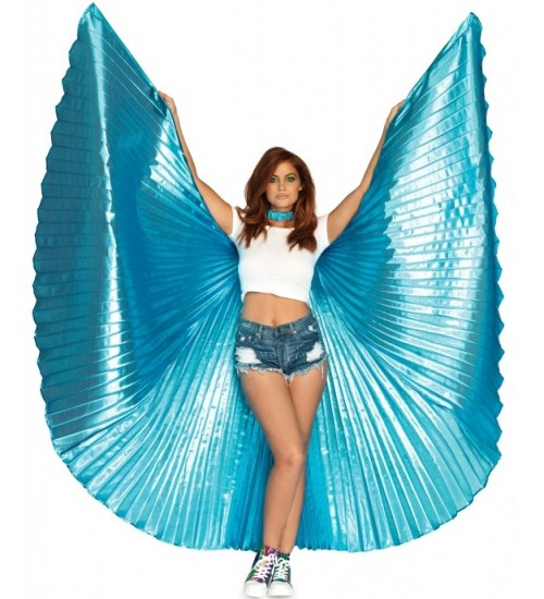 Isis Turquoise Pleated Festival Wings at All Wicca Store Magickal Supplies, Wiccan Supplies, Wicca Books, Pagan Jewelry, Altar Statues