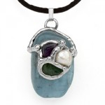 Ask, Believe, Receive Law of Attraction Gemdrop Pendant