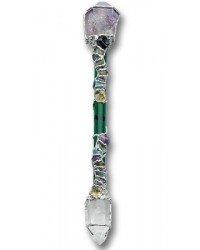 Prosperity Large Crystal Wand