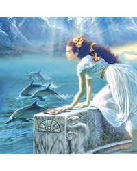 Dolphin Greeting Card with Music CD All Wicca Store Magickal Supplies Wiccan Supplies, Wicca Books, Pagan Jewelry, Altar Statues
