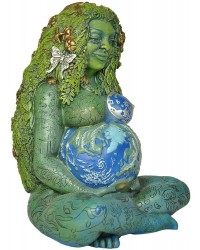 Millennial Gaia Mother Earth 7 Inch Statue All Wicca Store Magickal Supplies Wiccan Supplies, Wicca Books, Pagan Jewelry, Altar Statues