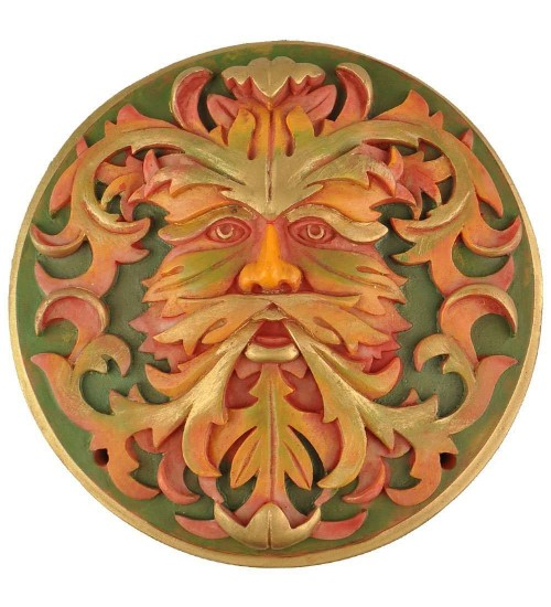Green Man Autumn Plaque