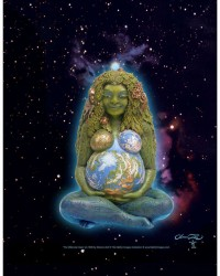 Millennial Gaia Mother Earth Full Color Poster All Wicca Store Magickal Supplies Wiccan Supplies, Wicca Books, Pagan Jewelry, Altar Statues