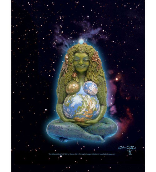 Millennial Gaia Mother Earth Full Color Poster at All Wicca Store Magickal Supplies, Wiccan Supplies, Wicca Books, Pagan Jewelry, Altar Statues
