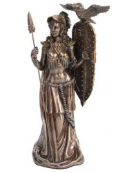 Athena Standing with Shield Greek Bronze Statue All Wicca Store Magickal Supplies Wiccan Supplies, Wicca Books, Pagan Jewelry, Altar Statues