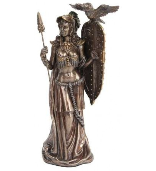 Athena Standing with Shield Greek Bronze Statue at All Wicca Store Magickal Supplies, Wiccan Supplies, Wicca Books, Pagan Jewelry, Altar Statues