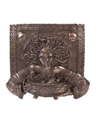 Cerridwen Cauldron Celtic Goddess 9 Inch Bronze Finish Plaque All Wicca Store Magickal Supplies Wiccan Supplies, Wicca Books, Pagan Jewelry, Altar Statues