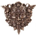 Greenman Bronze Resin Plaque