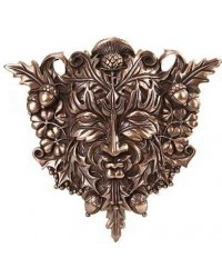 Greenman Bronze Resin Plaque All Wicca Store Magickal Supplies Wiccan Supplies, Wicca Books, Pagan Jewelry, Altar Statues
