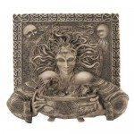 Cerridwen Cauldron Celtic Goddess 9 Inch Stone Finish Plaque