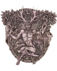 Cernunnos Horned God Celtic Wall Plaque Stone Finish All Wicca Store Magickal Supplies Wiccan Supplies, Wicca Books, Pagan Jewelry, Altar Statues