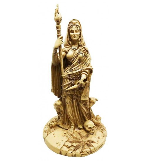 Hecate Greek Goddess of the Crossroads Bone Resin Statue at All Wicca Store Magickal Supplies, Wiccan Supplies, Wicca Books, Pagan Jewelry, Altar Statues