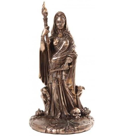 Hecate Greek Goddess of the Crossroads Bronze Resin Statue at All Wicca Store Magickal Supplies, Wiccan Supplies, Wicca Books, Pagan Jewelry, Altar Statues